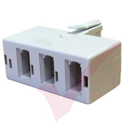 BT Triple Adapter - BT Plug to 3x BT Sockets White