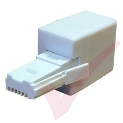 BT Male Plug - RJ11 Female 4 Wire Cross Over Socket Phone Adapter