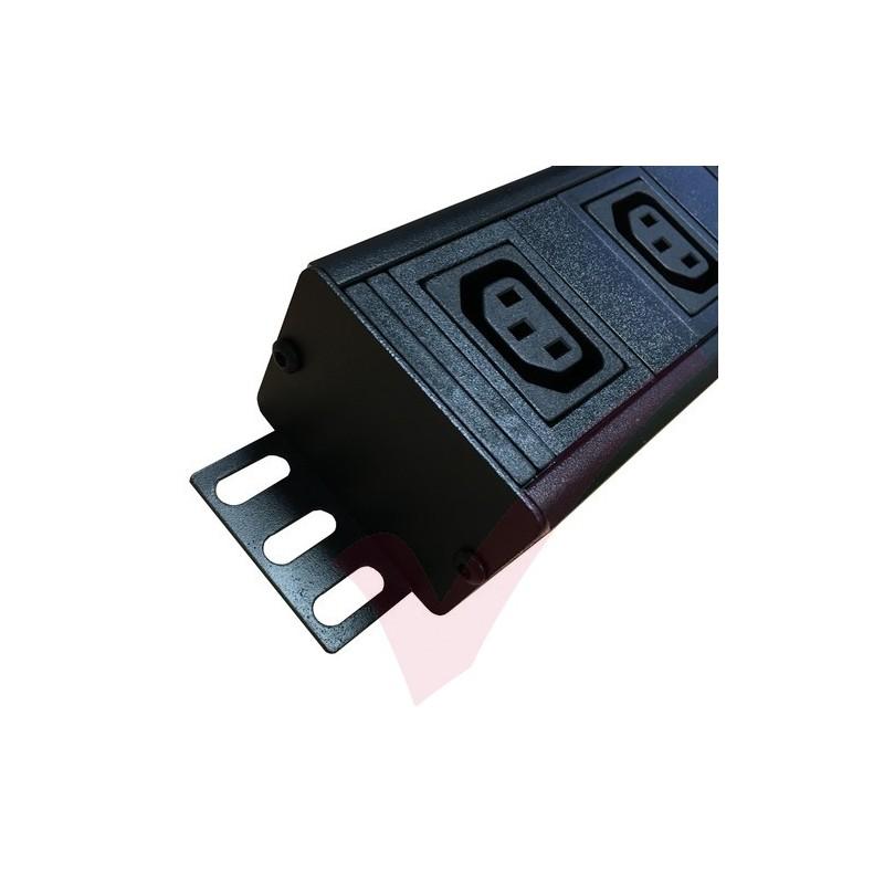 Black Vertical Rack Pdu C13 Socket To C14 Plug 3 Metre