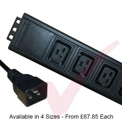 Vertical IEC (C19) Socket PDU with IEC (C20) Plug