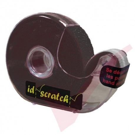 2.5 Metre Dark Black ID Scratch Reel Hook & Loop in Dispenser