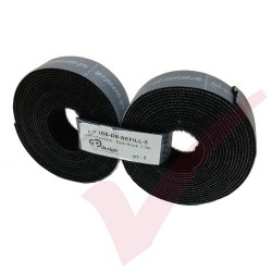 5.0 Metre Dark Black 3P ID Scratch Refill 2x 2.5m Hook & Loop - IDS-DB-REFILL-5