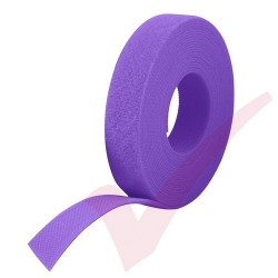 25 Metre Purple Velcro Reel Hook & Loop