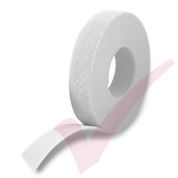 25 Metre White Velcro Reel Hook & Loop