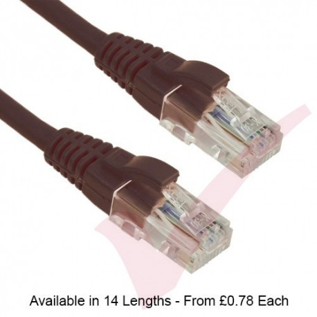 Black - Excel Cat5e UTP RJ45 24AWG LSZH Gigabit Snagless Booted Patch Leads