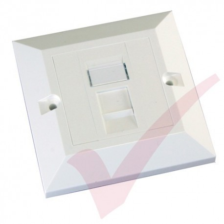 Excel Cat5e Single Faceplate with 1x RJ45 White Module