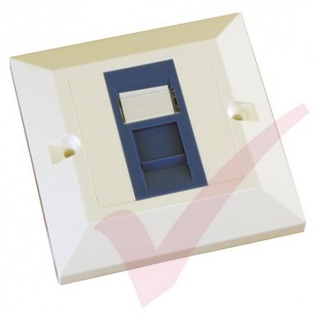 Excel Cat5e Single Faceplate with 1x RJ45 Blue Module