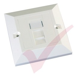 Excel Cat6 Single Faceplate with 1x RJ45 White Module