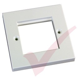 Excel Single Gang Flat Faceplate 100-714