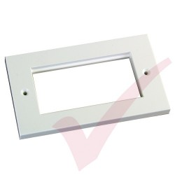Excel Double Gang Flat Faceplate