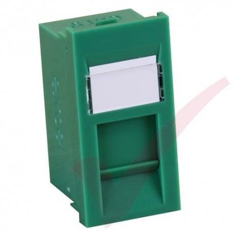 Excel Cat5e RJ45 UTP Module Green