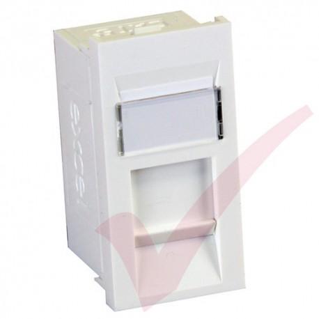 Excel Cat5e RJ45 UTP Module White