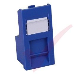 Excel Cat5e RJ45 UTP Low Profile Module Blue