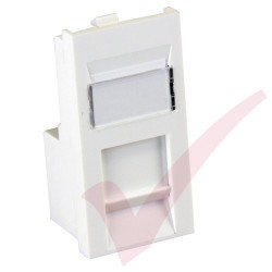Excel Cat5e RJ45 UTP Low Profile Module White 100-760