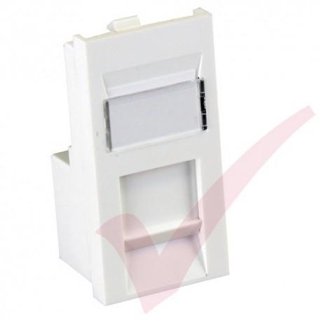 Excel Cat5e RJ45 UTP Low Profile Module White