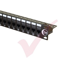 24 Port Cat5e Patch Panel 1U UTP Coupler