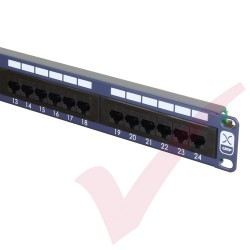 Excel 24 Port Cat5e Patch Panel 1U UTP Punch Down - Blue