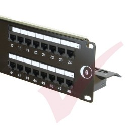 48 Port Cat6 Patch Panel 2U UTP Punch Down