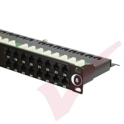 48 Port Cat6 Patch Panel 1U UTP Angled Easy Punch