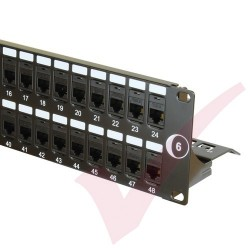 48 Port Cat6 Patch Panel 2U UTP Coupler
