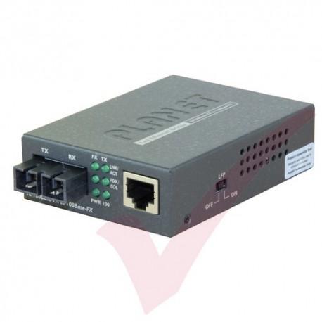 Planet 10/100TX RJ45 - 100FX SC MultiMode Media Converter - FT802UK