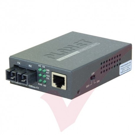 Planet 10/100TX RJ45 - 100FX SC 15km Singlemode Media Converter - FT802S15