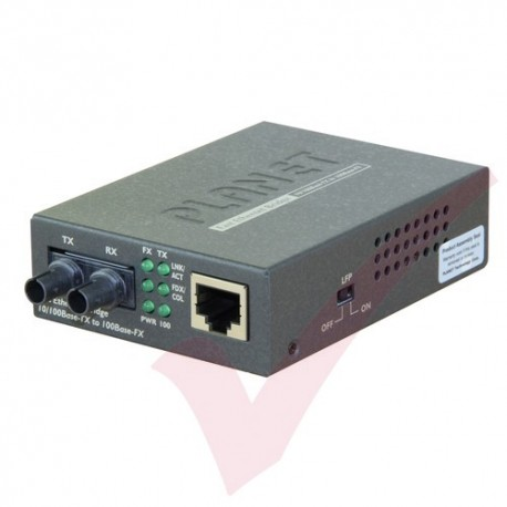 Planet 10/100TX RJ45 - 100FX ST MultiMode Media Converter - FT801UK