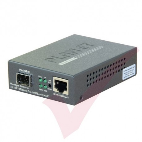 Planet 10/100/1000-1000SX GBIC Managed Converter - GT905A