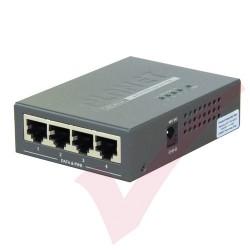 Planet 4 Port POE Injector Hub 802.3af Desktop - POE400