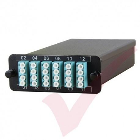 MTP OS2 Fibre Cassette 12 Duplex LC to 2x 12 Core MTP (Express, Easy & Expandable MPO Solution)