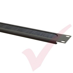 Black 1U Letterbox Style Brush Strip Panel