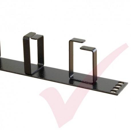 Excel 1U Cable Management Strip BK HORI Metal Ring 100-590
