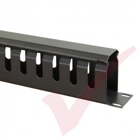Black 1U Cable Management Dump Panel