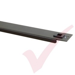 "Black 1U Tool Less Blanking Panel 19"" Metal"
