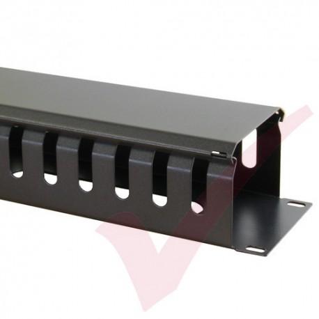 Black 2U Cable Management Dump Panel