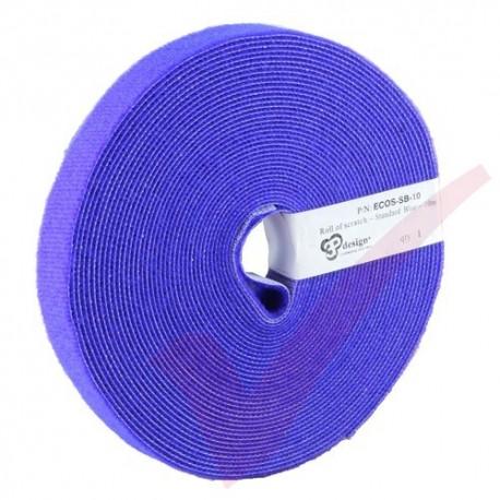 10 Metre Blue Eco Scratch Velcro Reel Hook & Loop - ECOS-SB-10