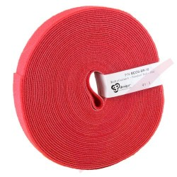 10 Metre Red Eco Scratch Velco Reel Hook & Loop - ECOS-SR-10