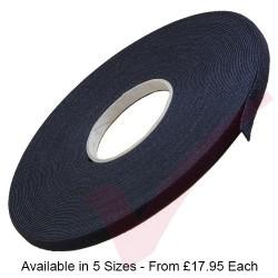 25.0 Metre Black Velcro Reel Back to Back