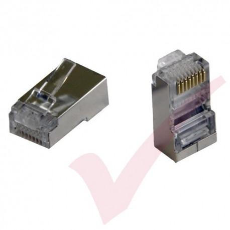 UTP RJ45 Crimp Connector Plug (50u) Unshielded for Stranded Cable, 100 Pack