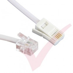 White RJ11 - BT Plug Standard Cable