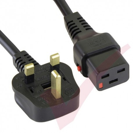 2 x Black 4 Way 10 Metre Socket Power Extension Lead Mains Cables 13 AMP
