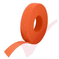25 Metre Orange Velcro Reel Hook & Loop