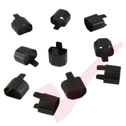 Secure Sleeve C13 into C14 Inlet Tab Black - 10 Pack