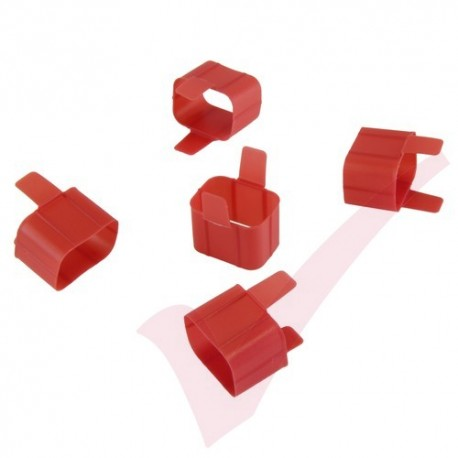 Secure Sleeve C19 into C20 Inlet Tab Red - 5 Pack