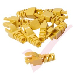 Snagless Slimline Crimp High Density 6MM Boot, 10 Pack Yellow