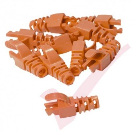 Snagless Slimline Crimp High Density 6MM Boot, 10 Pack Orange