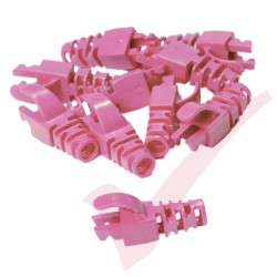 Snagless Slimline Crimp High Density 6MM Boot, 10 Pack Pink