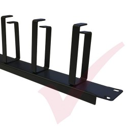 1U 5 Ring Cable Management Bar 100mm Rings