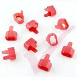 10 Pack - Power Cord Secure Tension Sleeve for IEC C14 in Red