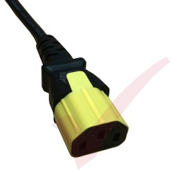 Secure Sleeve C13 into C14 Inlet Tab Yellow - 25 Pack